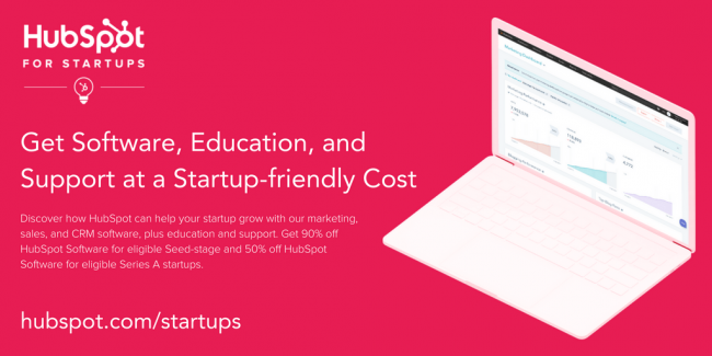 HubSpot for Startups Get up to 90% off HubSpot sales and marketing software.