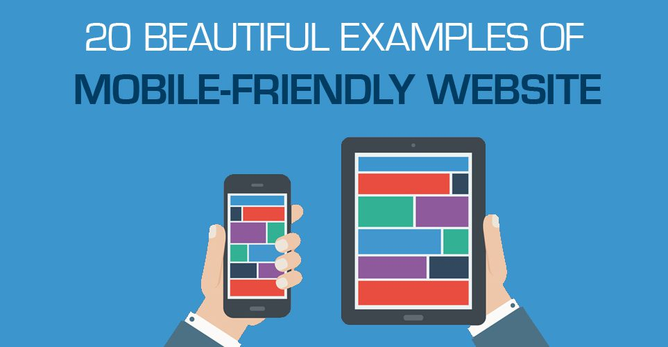 mobile website examples