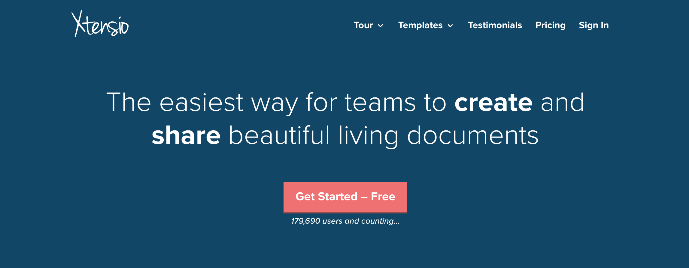 Xtensio website screenshot