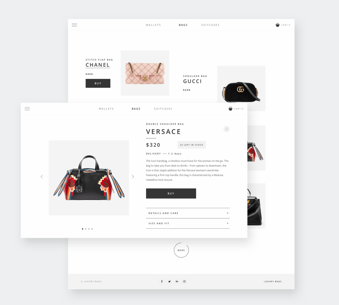 E-Commerce Shop for a Luxury Bags