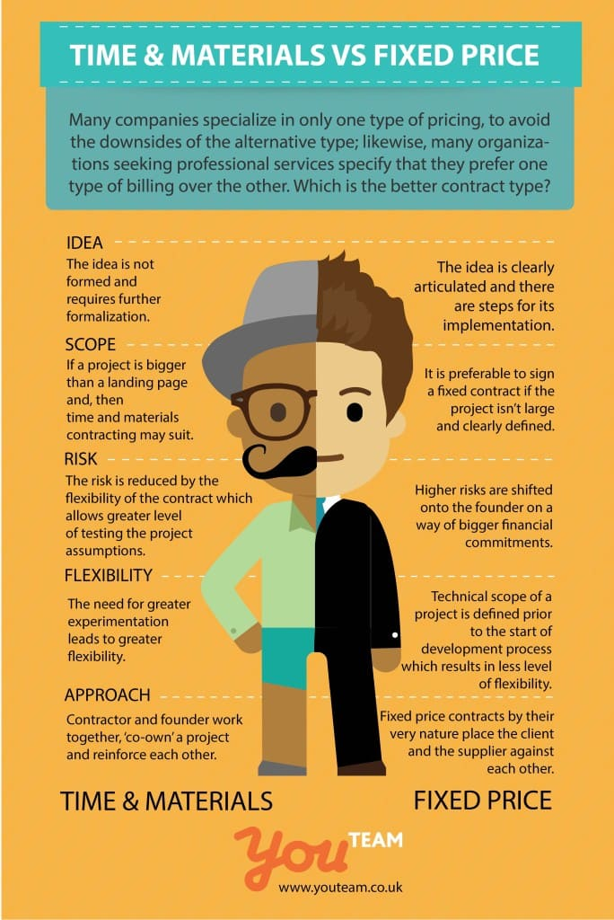 2 Types of Software Development Contracts Infographics