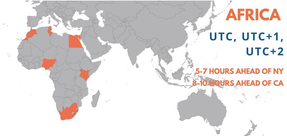 Map of Africa Region