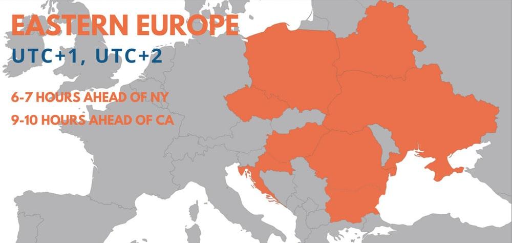 Map Eastern Europe