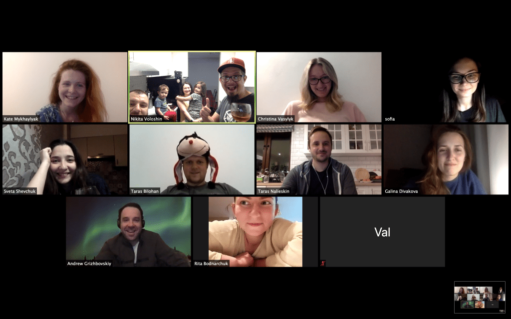 YouTeam at Zoom call