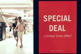 Sign: special deal