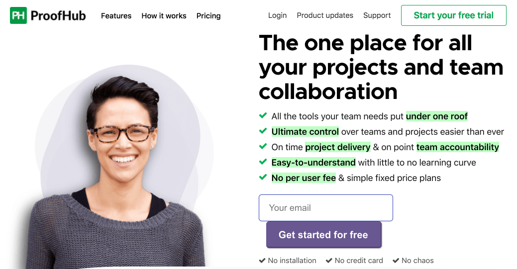 ProofHub is online collaboration tool for teams.