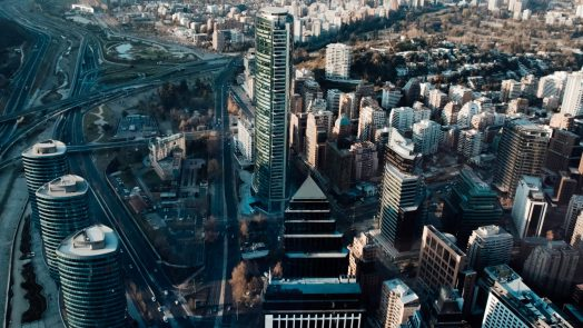 Santiago city center where is concentrated the majority of software development companies of Chile