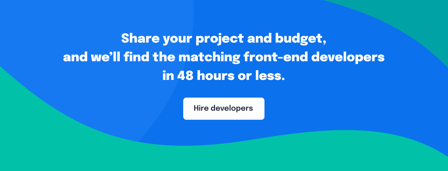 Hire front-end developers