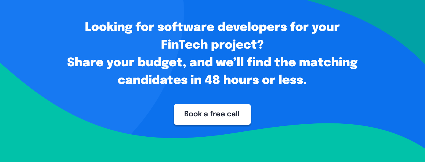 Developers for FinTech Project